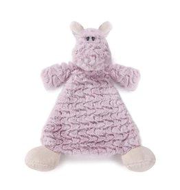 Demdaco Cozy Rattle Blankie Harlow Hippo