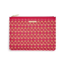 Katie Loxton Katie Loxton Willow Straw Clutch Hot Pink