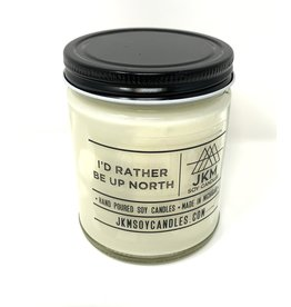 JKM Soy Candles Michigan Inspired Scents Candle I'd Rather Be Up North
