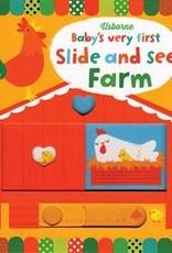 Usborne Books Baby's First Slide & See Farm Book