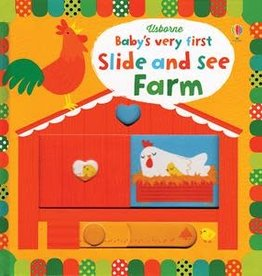 Usborne Books Baby's First Slide & See Farm Book