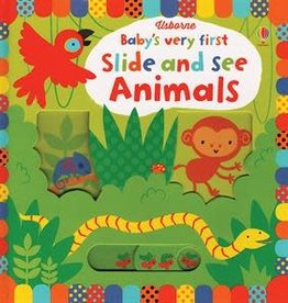 Usborne Books Baby's First Slide & See Animal Book
