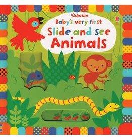 Usborne Books Baby's First Slide & See Animal Book