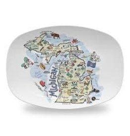 Michigan Map Platter 10x14