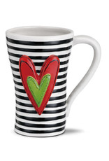 Heart Mug Black Stripes