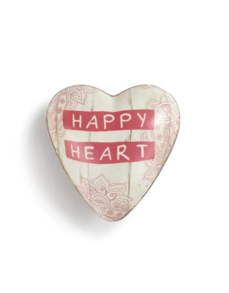 Demdaco Art Heart Token Happy Heart