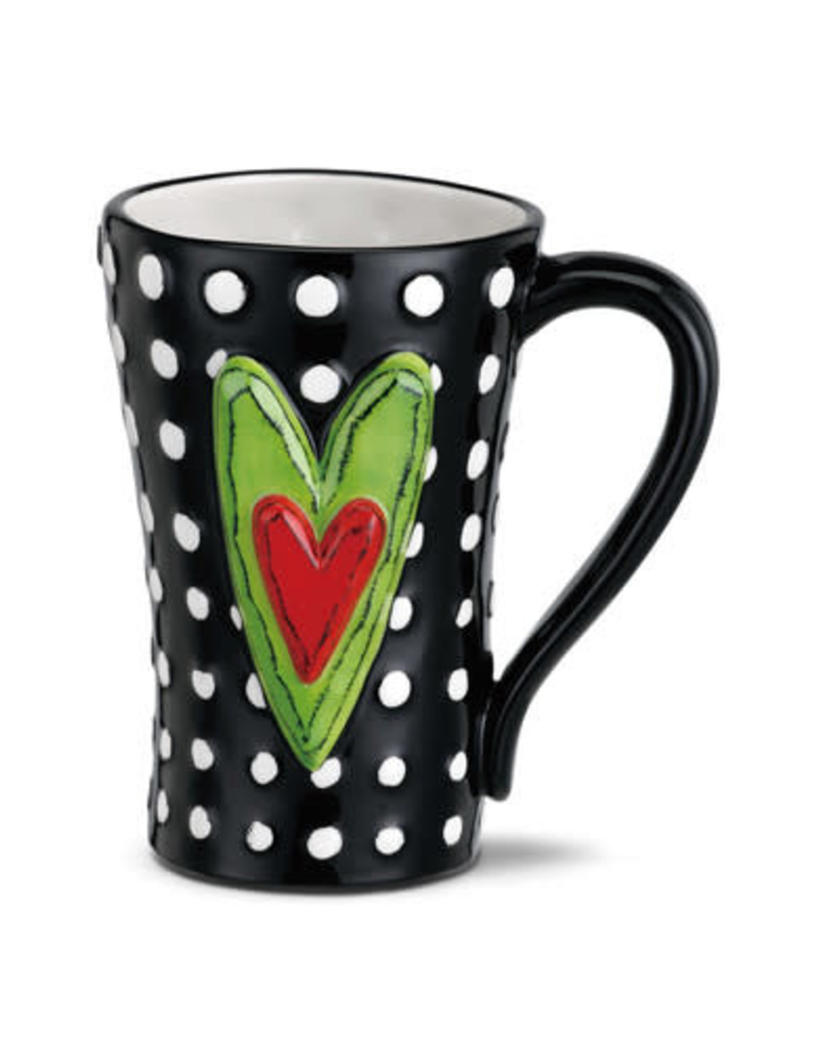 Heart Mug White Dots