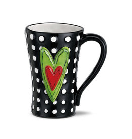 Heart Mug White Dots