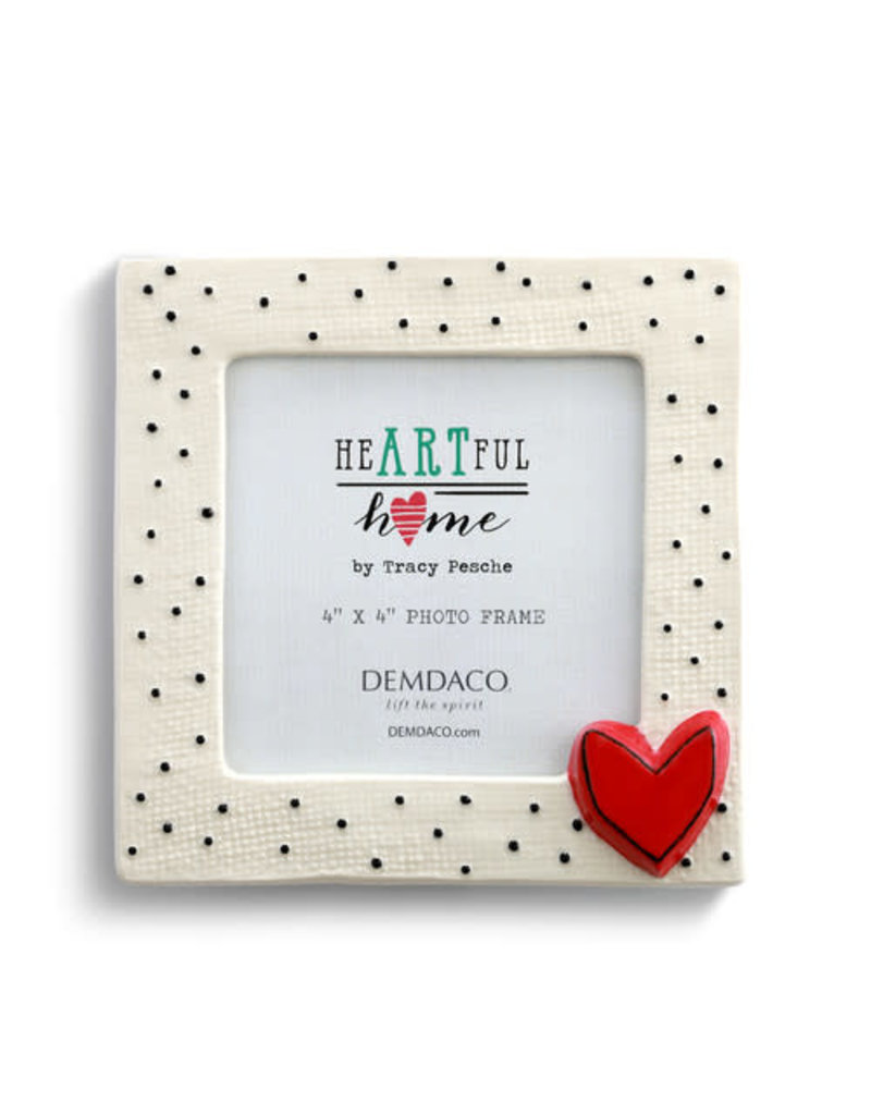 Demdaco Frame - Small Dots with Heart