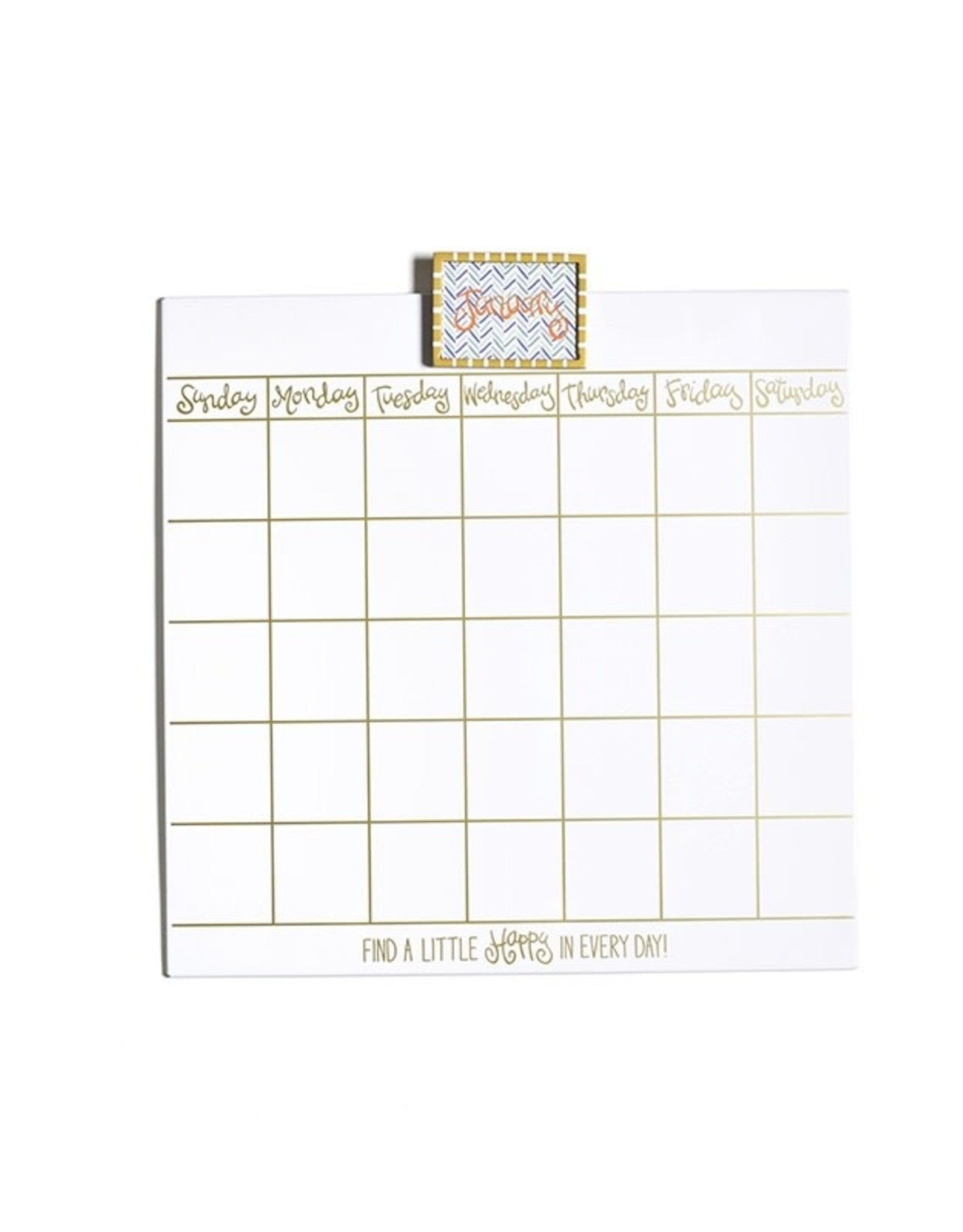 Coton Colors Happy Everything Dry Erase Calendar w/ Gold Frame