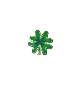 Happy Everything Mini Attachment Four Leaf Clover