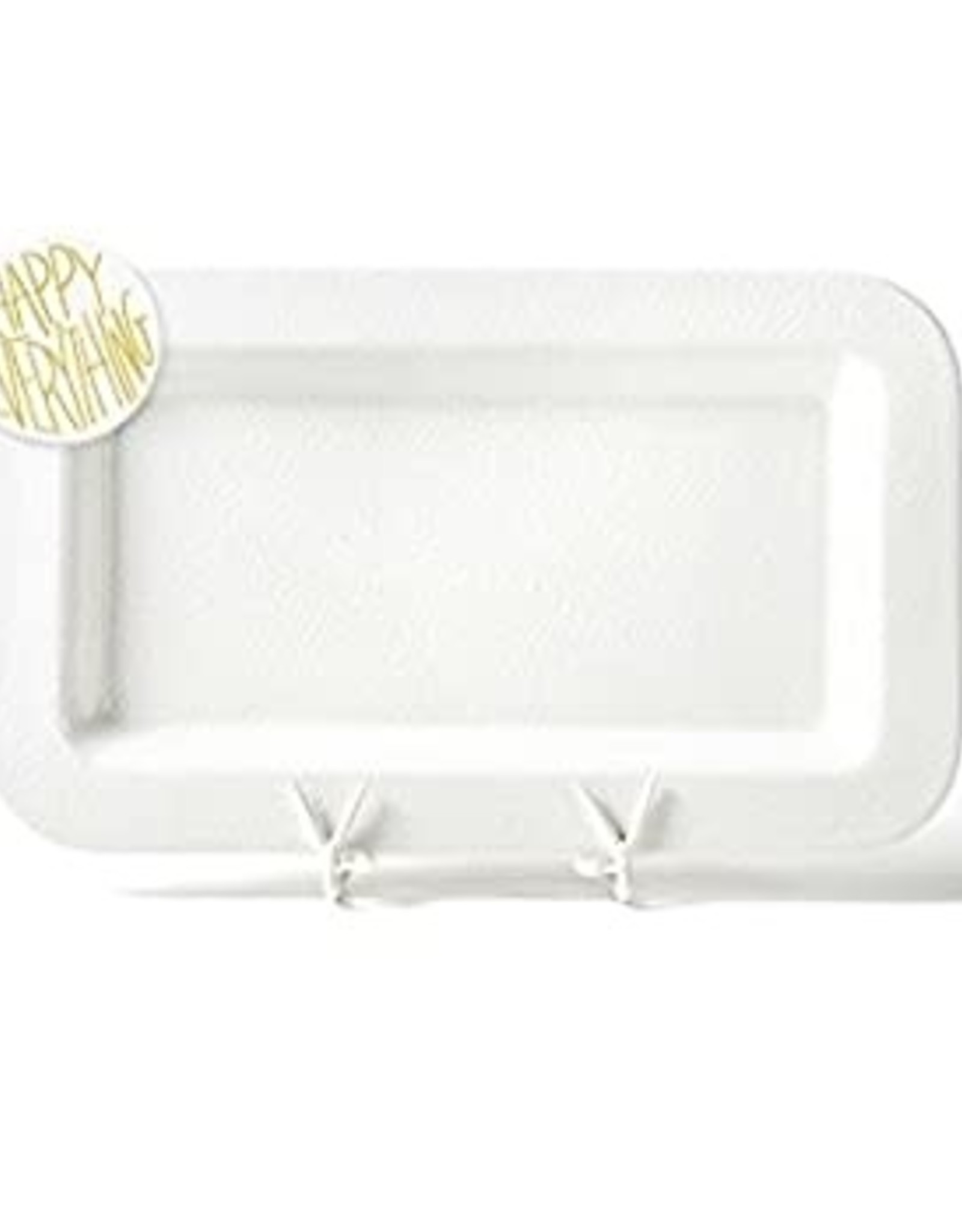 Coton Colors Happy Everything Mini Platter White Small Dot with HE Attachment