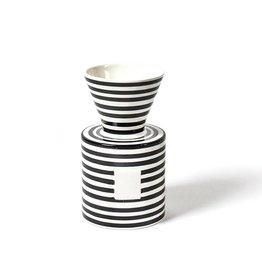 Coton Colors Happy Everything Mini Vase Black Stripe