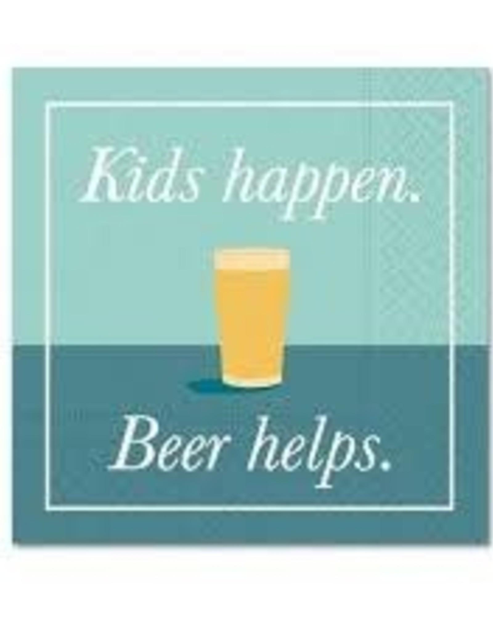 Cocktail Napkin Kids Happen Beer Helps