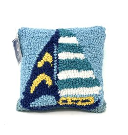 C & F Enterprises Sailboat Stripe Pillow - Small