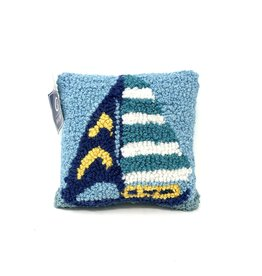 Sailboat Stripe Pillow - Small