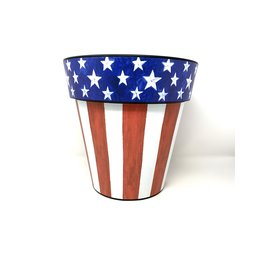 """Art Planter Small 12"""" Stars and Stripes Forever"""