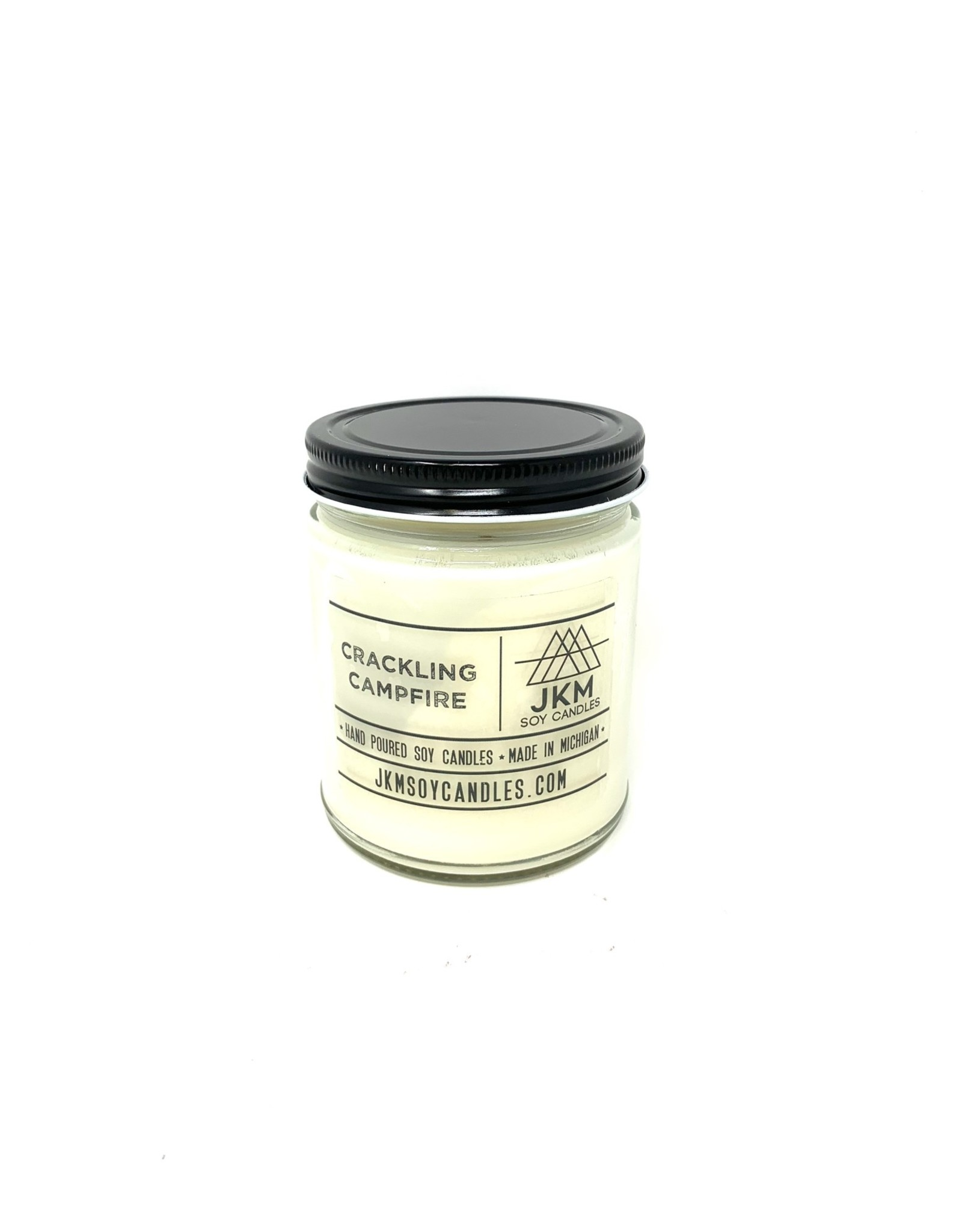 JKM Soy Candles Michigan Inspired Scents Candle Crackling Campfire