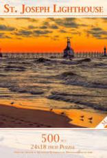 MI Puzzles (Phil Stagg Photography) 500 Piece Puzzle St. Joe Lighthouse