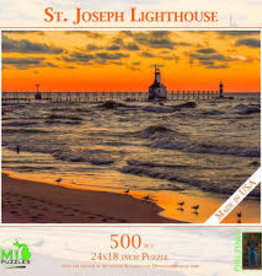 MI Puzzles (Phil Stagg Photography) 500 Piece Puzzle St. Joe Lighthouse