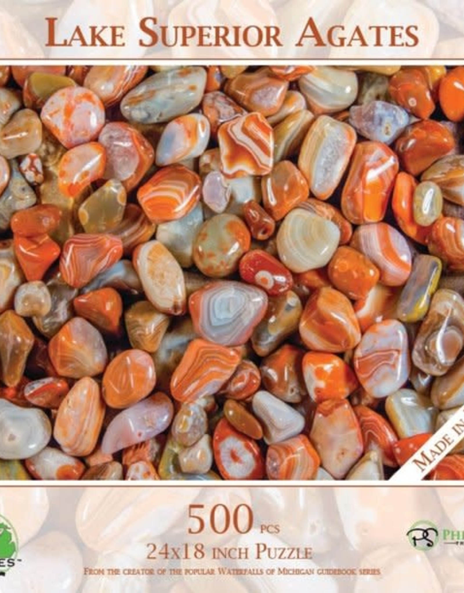 MI Puzzles (Phil Stagg Photography) 500 Piece  Puzzle Lake Superior Agates