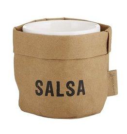 Santa Barbara Small Salsa Holder Natural with Black