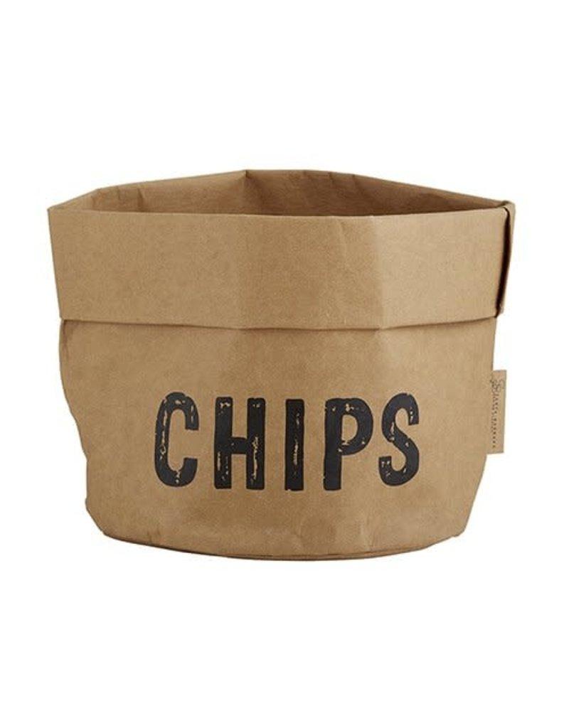 Large Holder Chips Natural with Black