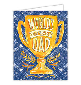 Roseanne Beck Folded Fathers Day Greeting Card- Best Dad Trophy