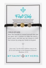 Kid's First Communion Bracelet Mixed/Black
