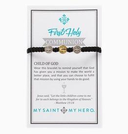 Kid's First Communion Bracelet Mixed/Black