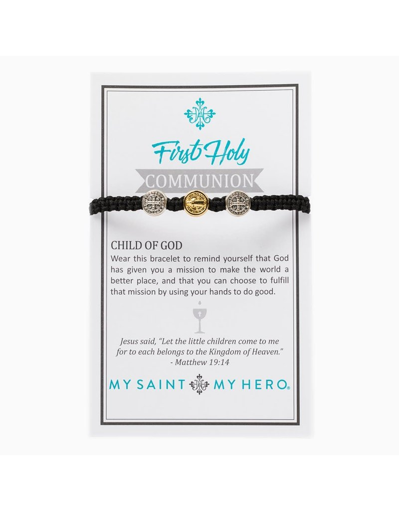 My Saint My Hero Kid's First Communion Bracelet Mixed/Black