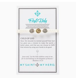 Kid's First Communion Bracelet Mixed/White