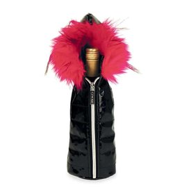 Wild Eye Design Wine Bottle Parka Pink