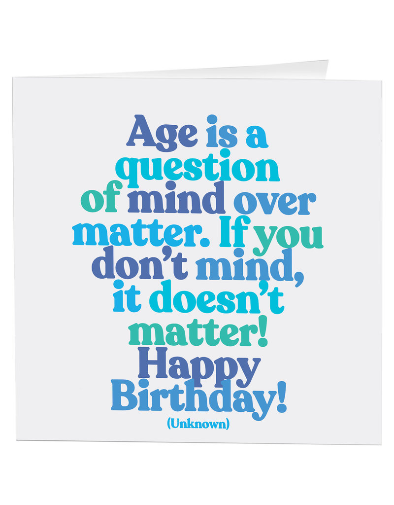 Quotable Card Age is a Question
