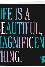 Quotable Card Beautiful Magnificent
