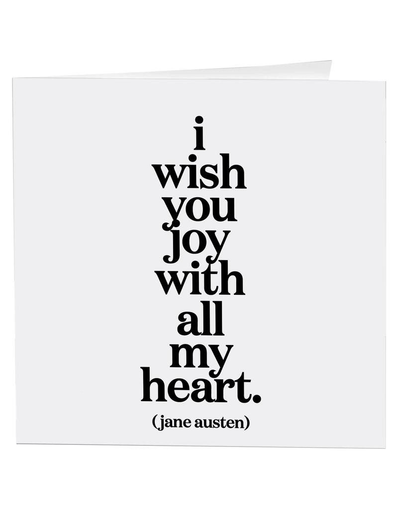 Quotable Card I Wish You Joy