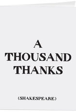 Card Thousand Thanks