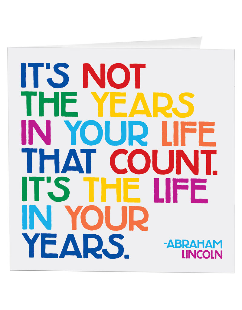 Quotable Card Years in Your Life