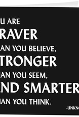 Quotable Card- You Are Braver