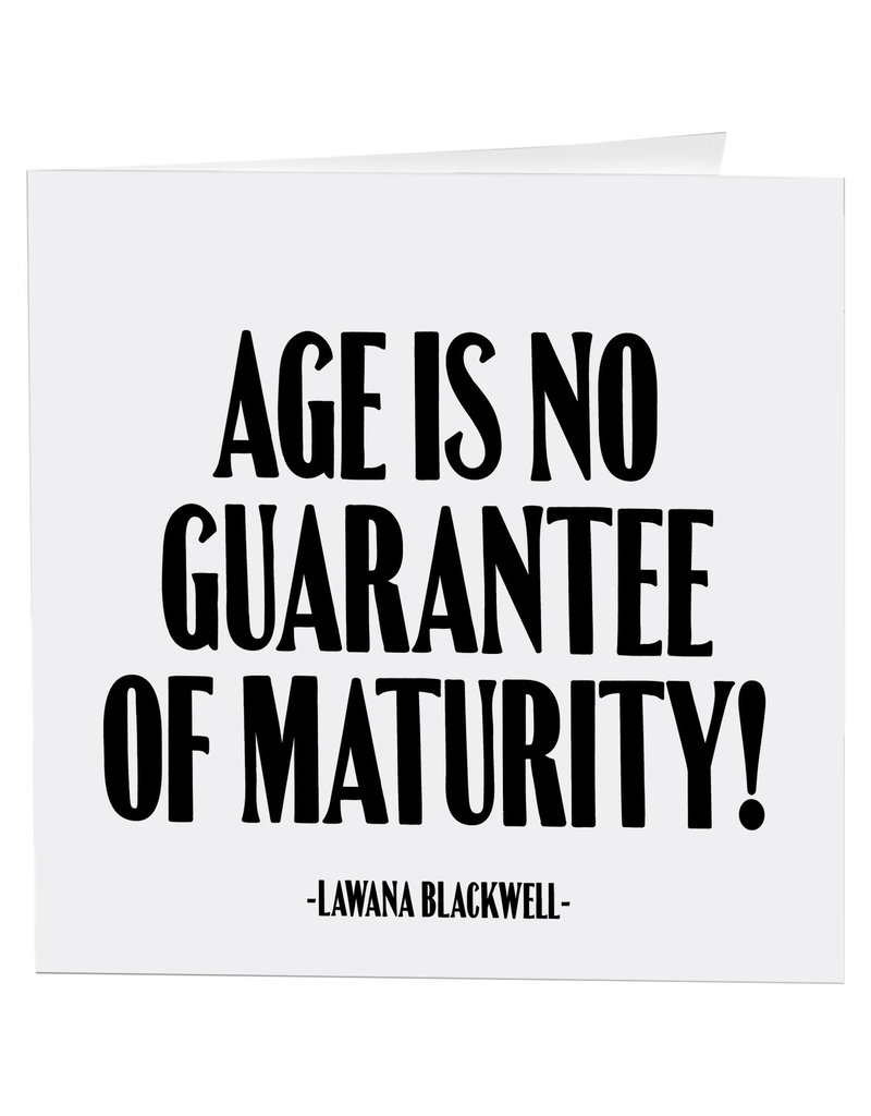 Quotable Card Age is No Guarantee
