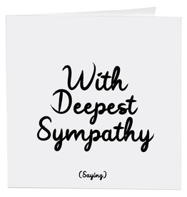 Quotable Card Deepest Sympathy