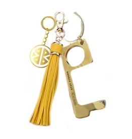Pieces of Me Touchless Tassle Keychain Yellow
