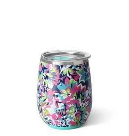 Swig Swig 14oz Stemless Wine Cup Frilly Lilly