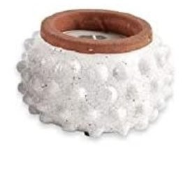 Candle Dotted Terracotta Cream