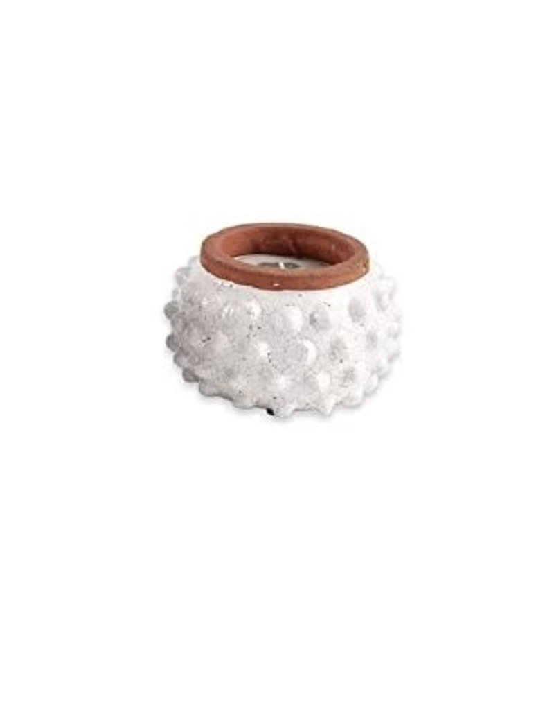 Mud Pie Candle Dotted Terracotta Cream