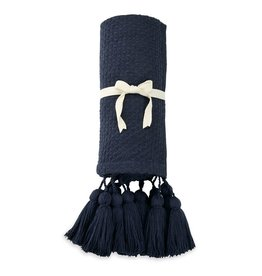 Throw Navy With Tassel