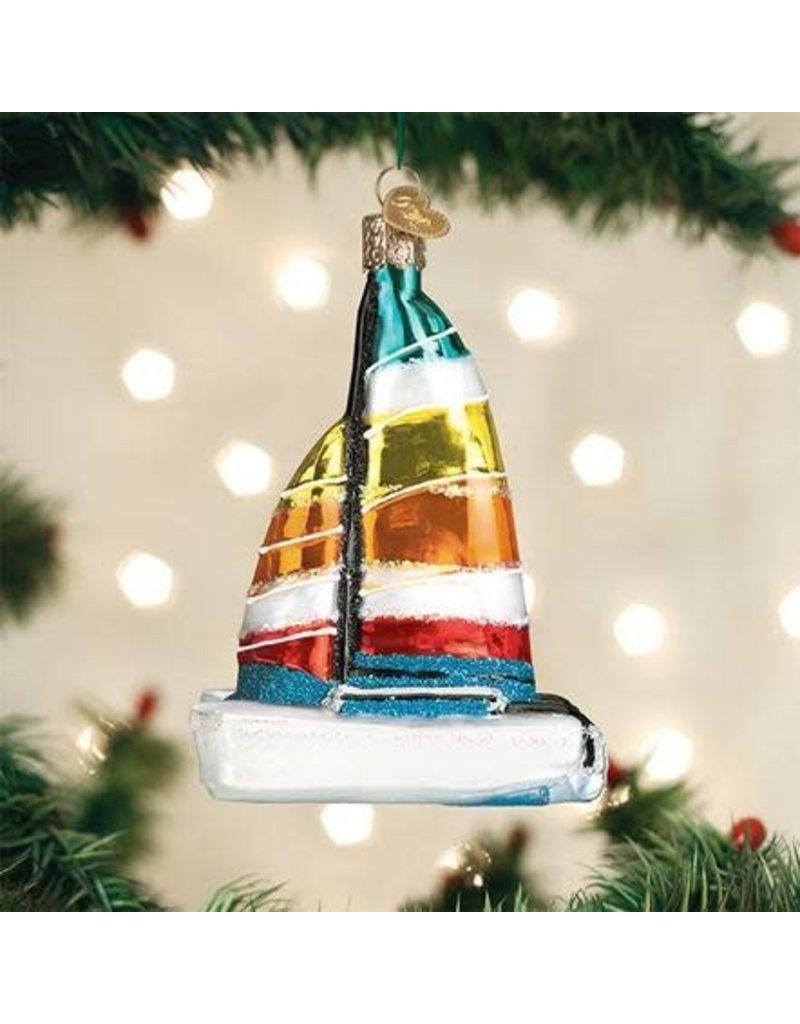 Old World Christmas Ornament Catamaran