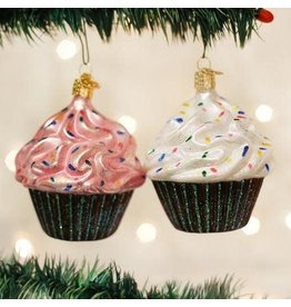 Old World Christmas Ornament Chocolate Cupcake