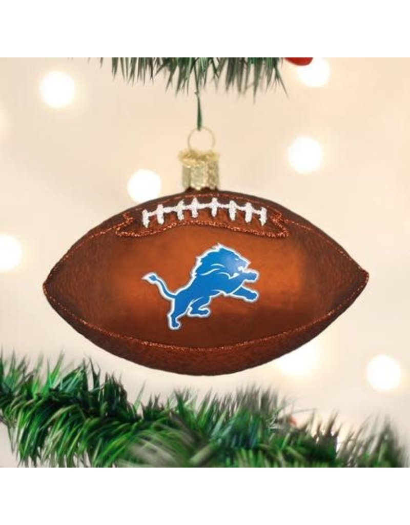 Old World Christmas Ornament Detroit Lions Football