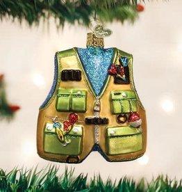 Old World Christmas Ornament Fishing Vest